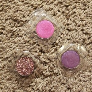 Colourpop Eyeshadows and Pressed Glitter